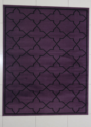 Rattew Purple Area Rug