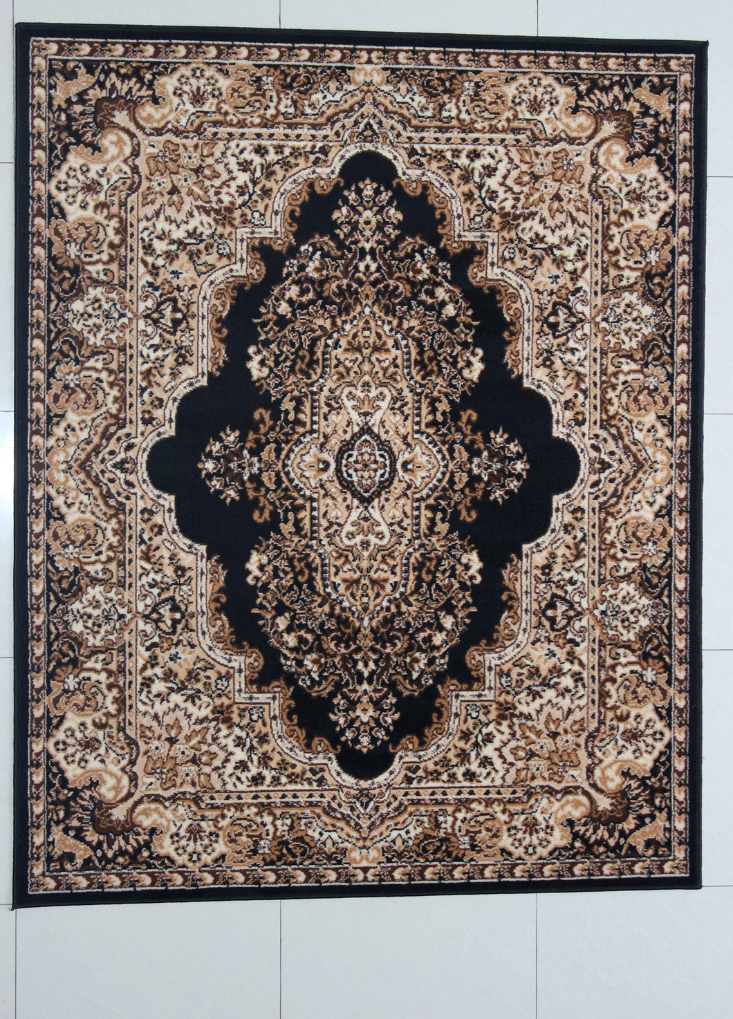 Porcher Black Area Rug