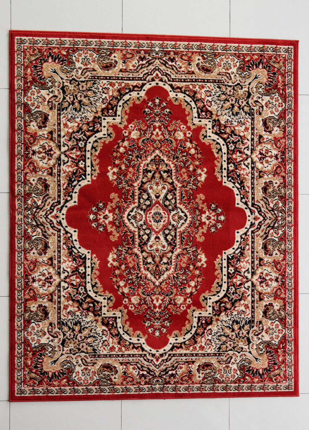 Arlosh Orange Area Rug - Rug Tycoon