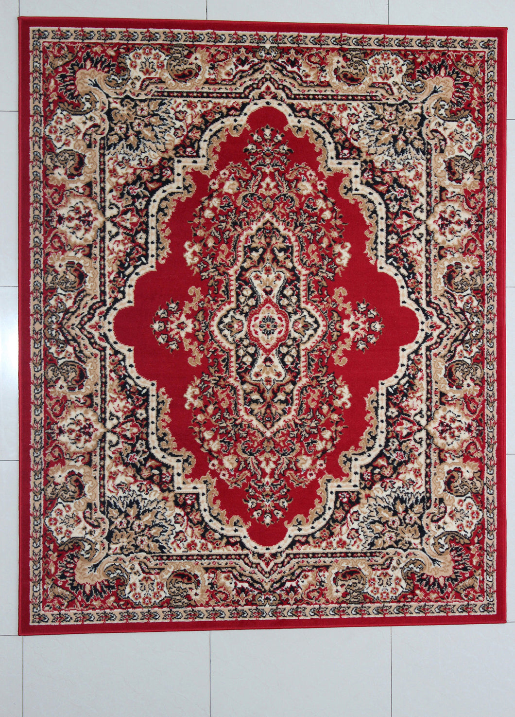 Perry Red Area Rug