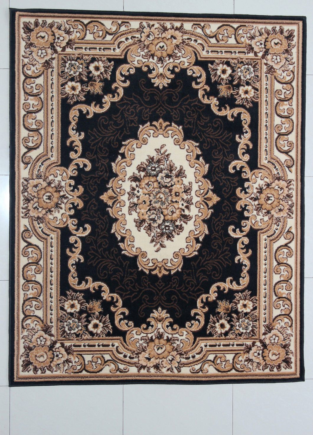 Achilles Black Area Rug - Rug Tycoon