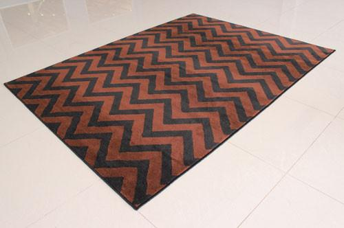 W1520 Black Brown Area Rug