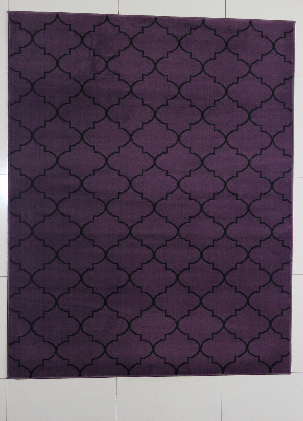 Rattew Quatrefoil Purple Area Rug
