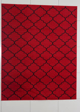 W1521 Red Black Area Rug