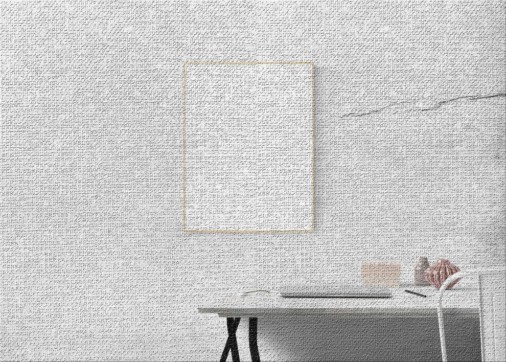 White Picture Area Rug, 2'0