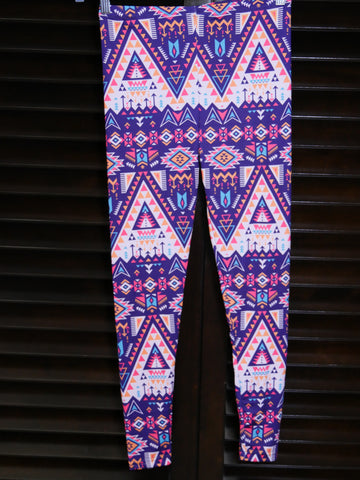 leggings-purple zig zag