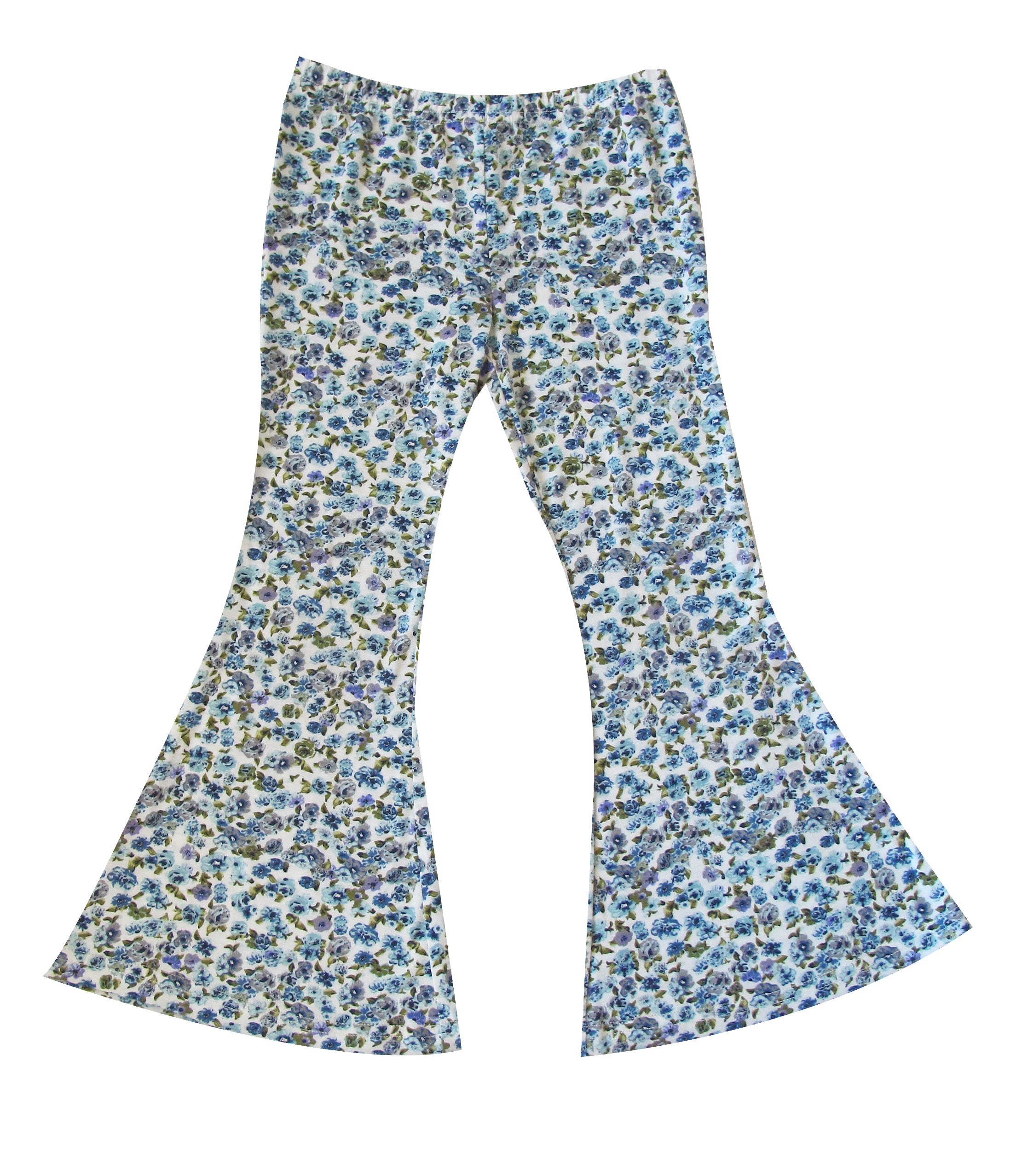 Girls Bell Bottoms - Dusty Blue Floral
