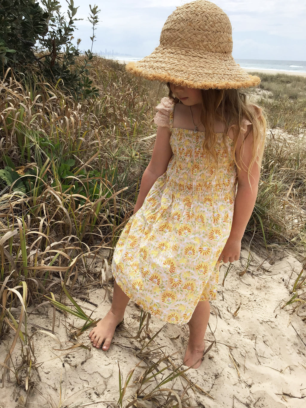 Girls Clementine Dress - Yellow