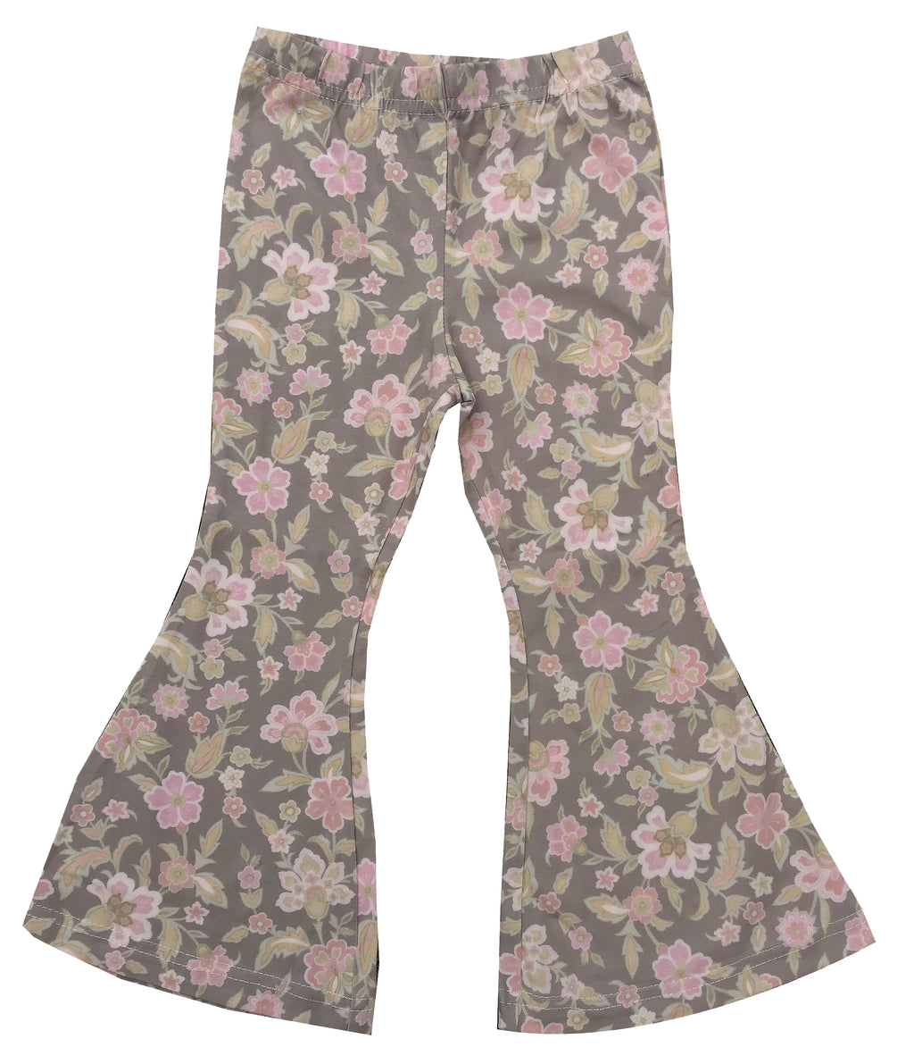 Girls Joplin Bell  - Brown Vintage Floral