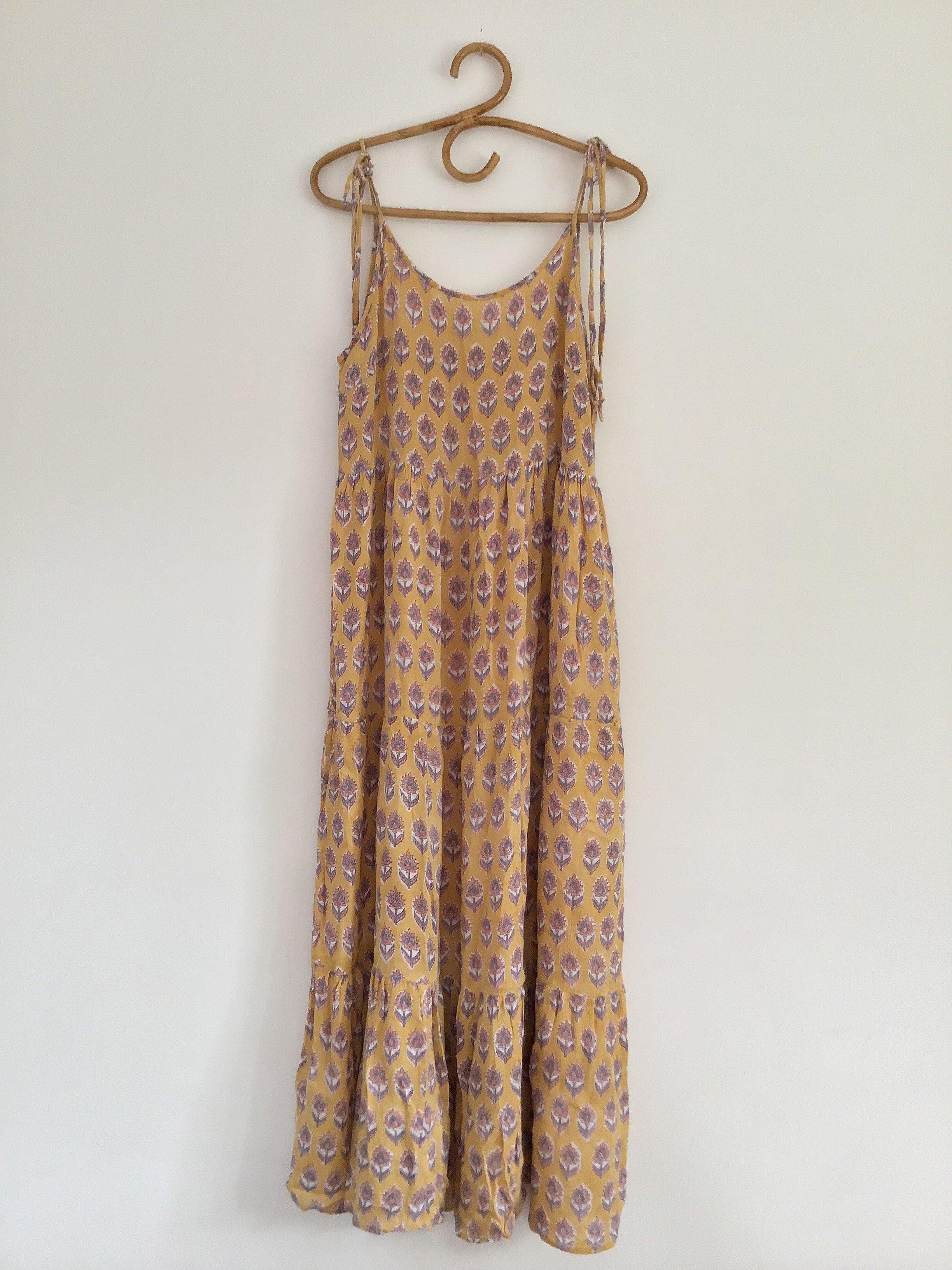 Ladies Meadows Dress - Mustard