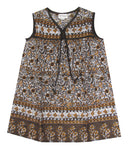 Little Luna Sleeveless Dress - Walnut
