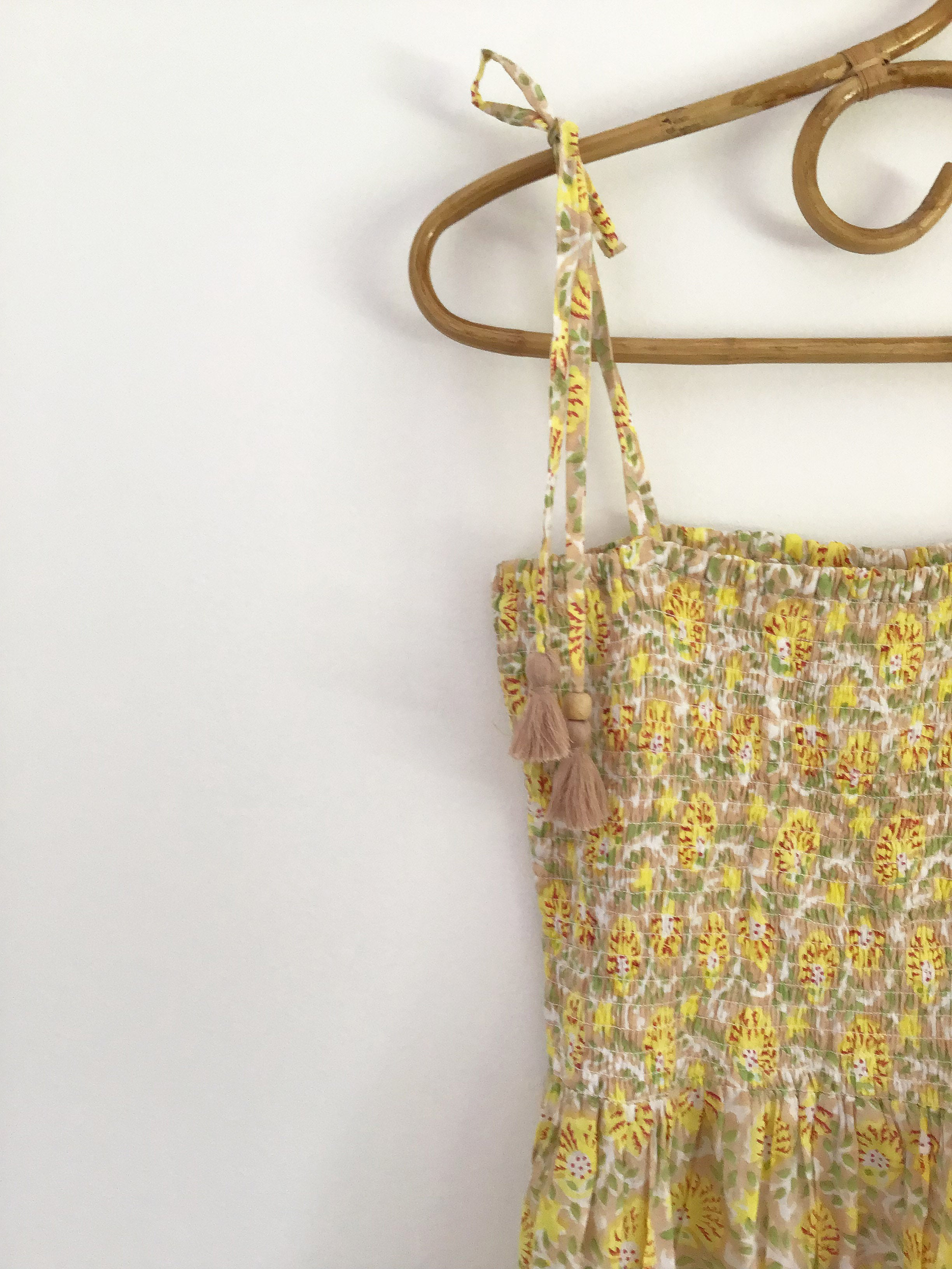Ladies Clementine Dress - Yellow