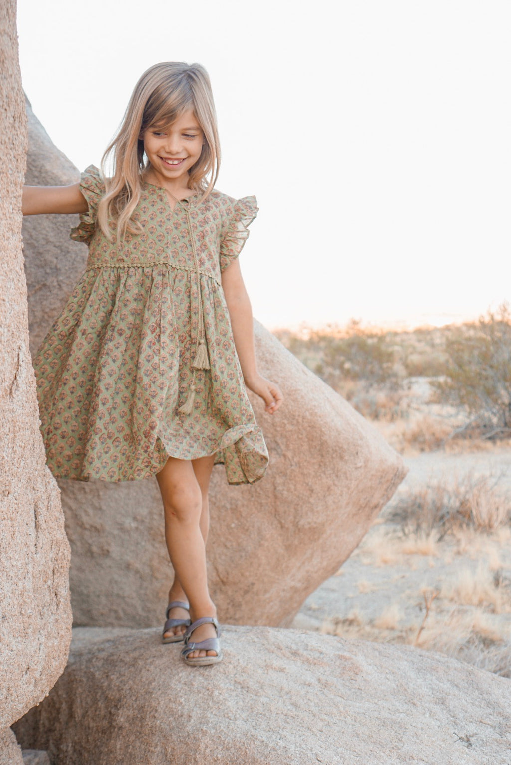 Little Prairie Dress ~ Moss