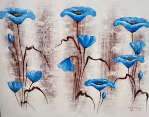 """Blue Poppies"" by Arta Wijaya, Bali"