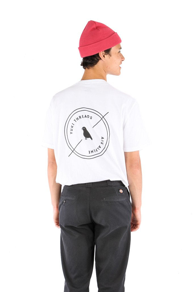 Left Of Centre Tee White - Yuki Threads