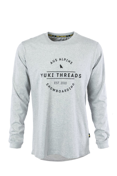 LS Tee Logo Heather Grey - Yuki Threads
