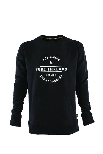 Logo Crew Black - Yuki Threads
