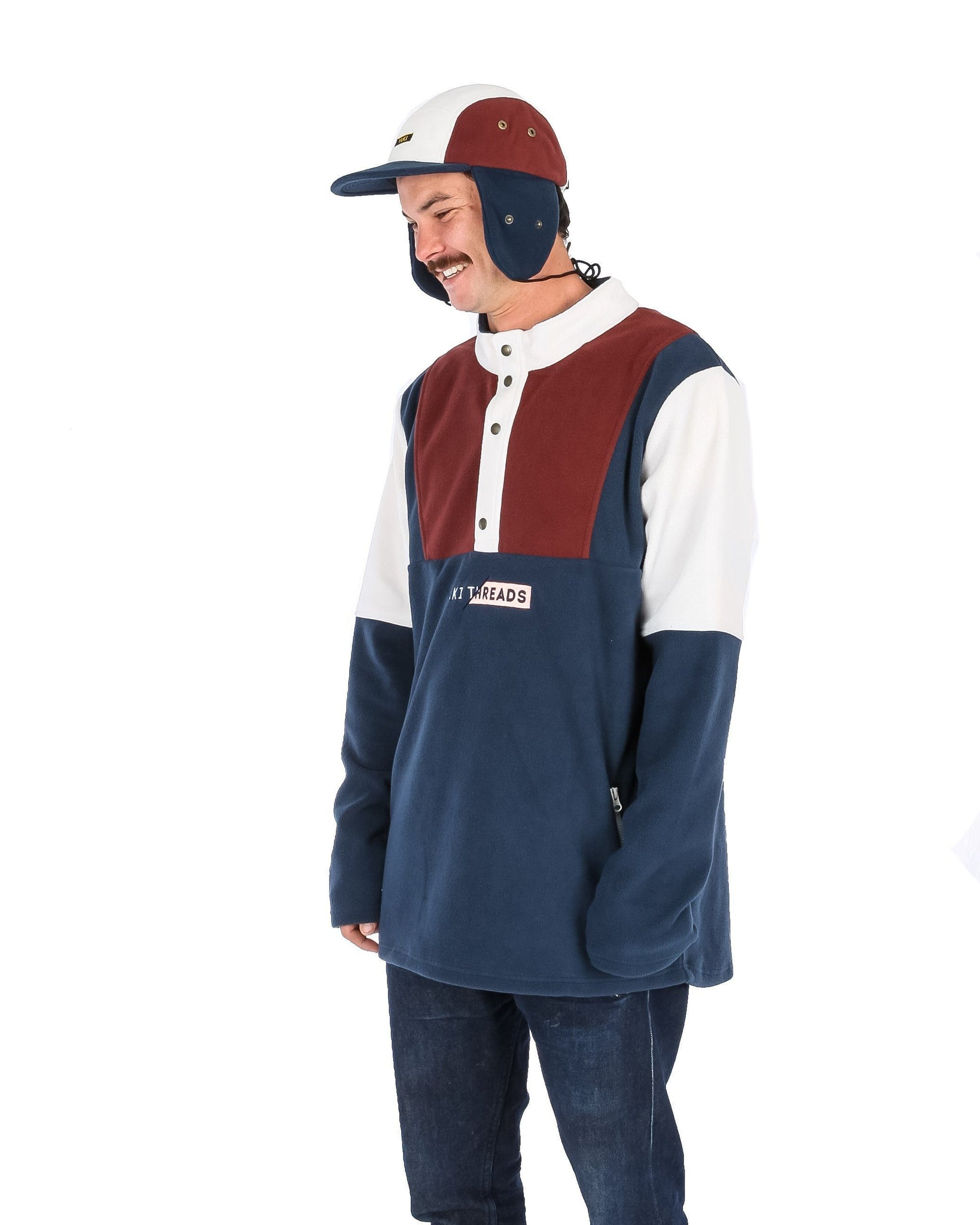 FRESH PRINCE FLEECE NAVY / MAROON / OFF WHITE - Yuki Threads