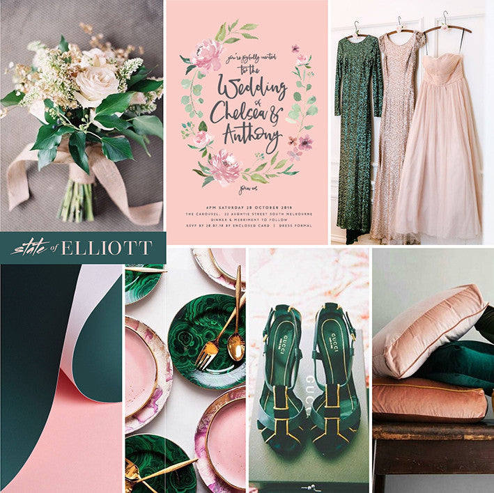 Spotlight on Colour - Blush, Sage and Pine Green