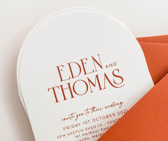 Arch / Shaped Invitations