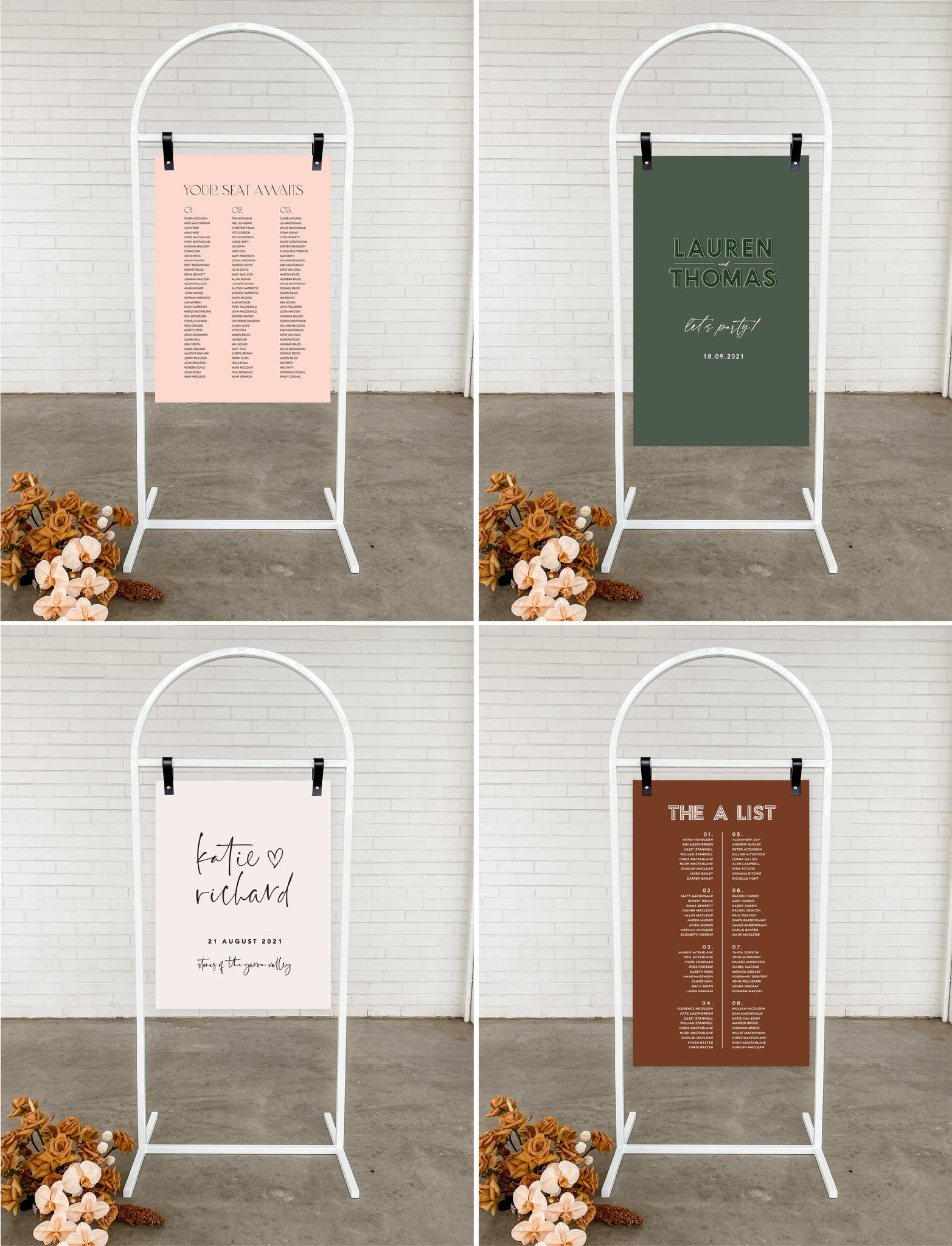 white arch signage stand event hire melbourne welcome sign