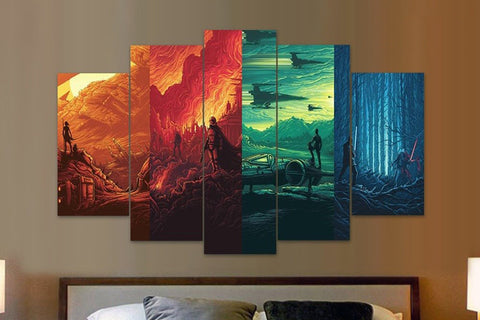 Star Wars - 4 Worlds - 5 Piece Canvas - EpicKanvas