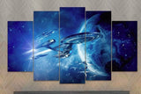 5 Piece Star Trek USS Enterprise Canvas Artwork - EpicKanvas