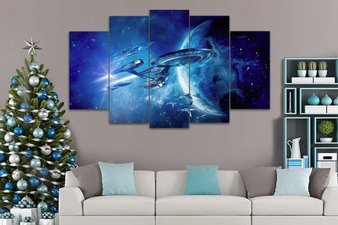 5 Piece Star Trek USS Enterprise Canvas Artwork