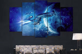 Star Trek USS Enterprise - 5 Piece Canvas Painting
