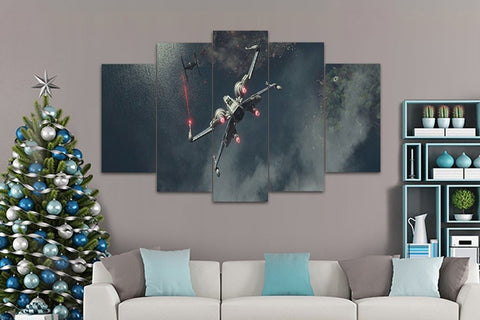 5 Piece Star Wars X Wing Canvas Artwork For Home and Office Decor - EpicKanvas