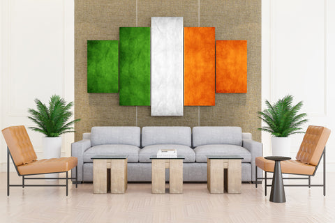 Indian Flag - 5 piece Canvas