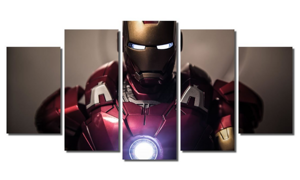 5 Piece Framed Marvel Stark The Avengers Artwork on Wall Art for Office and Home Wall Decor