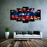 5 piece Canvas Artwork of 2018 Russian Soccer World Cup