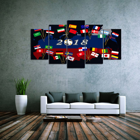 5 piece Canvas Artwork of 2018 Russian Soccer World Cup - EpicKanvas