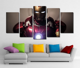 5 Piece Framed Marvel Stark The Avengers Artwork on Wall Art for Office and Home Wall Decor - EpicKanvas
