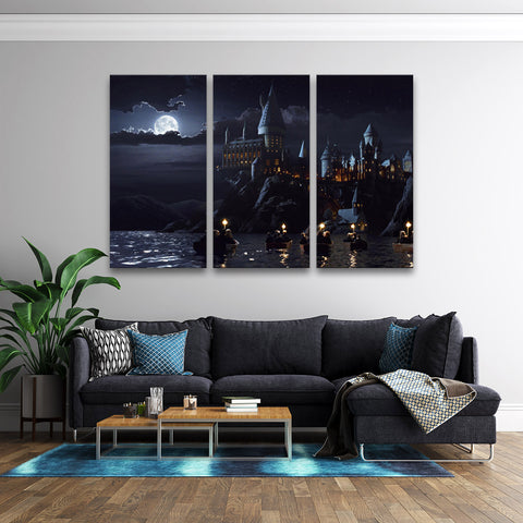 3Pcs Harry Potter School Hogwarts Art For Your Home/Office Room - EpicKanvas