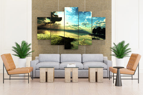 Nature's Earthly Beauty - 5 piece Canvas