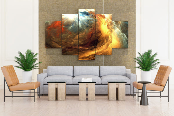 Multi Color Painting - 5 piece Canvas