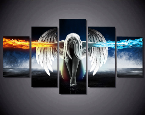 5PCS Abstract Angel Canvas Artwork For Your Home & Office Decor