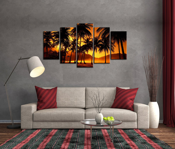 5 Piece Framed Scarface Hawaii Canvas Prints - 5 piece Classic Canvas For Office/Home Room
