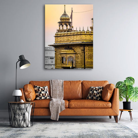 1 Pc Framed Golden Temple Sikh Beauty & Classy Wall Art For Home & Office Wall Decor - EpicKanvas
