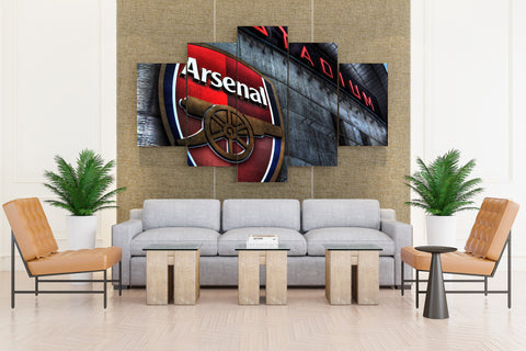 Arsenal Soccer Club - 5 piece Canvas