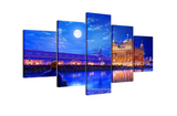 5 Pcs Golden Temple Canvas- 5 piece Sikhism Culture Sikh Heritage Canvas Prints For Your Home/Office Room