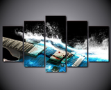 5PCS Musical Instruments Wall Art Canvas For Home and Office Decor - EpicKanvas