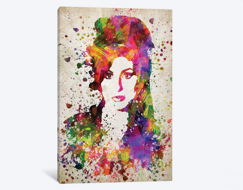 1PCS Framed Amy Winehouse Canvas Prints - 1 Piece Amy Winehouse Artwork Canvas Painting on Wall Art for Office and Home Wall Decor