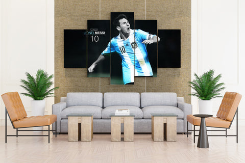 Lionel Messi FC Barcelona Argentina National - 5 piece Canvas