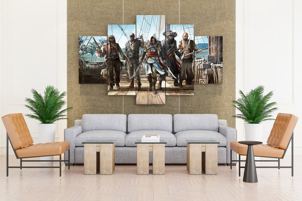 Assassins Creed Warrior: Men Pirates - 5 piece Canvas