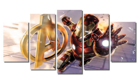 5 Piece Framed Marvel Avengers Stark  Artwork on Wall Art for Office and Home Wall Decor
