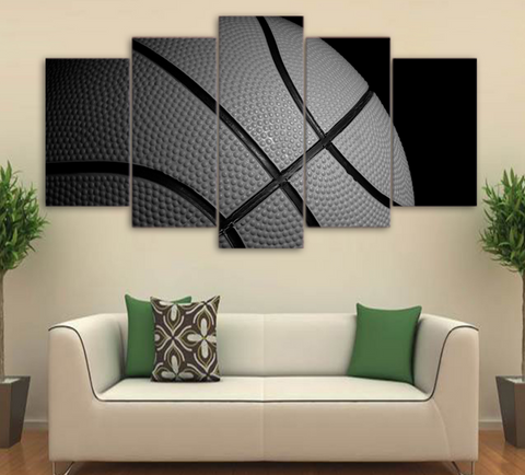 5 PCS Framed Basket Ball Artwork - 5 piece Canvas For Office/Gym/Home/Living Room - EpicKanvas