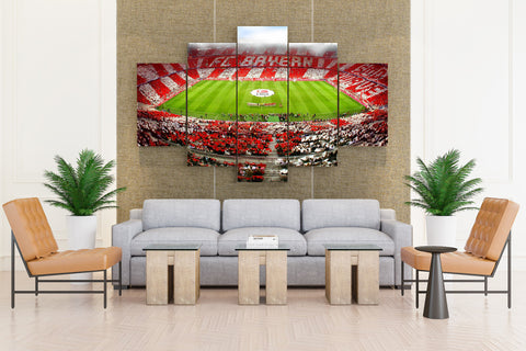Soccer: Allianz Arena Stadium - 5 piece Canvas - EpicKanvas